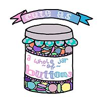 Cute as a Whole Jar of Buttons by Alice Kiff