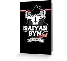 Saiyan Gym Greeting Card