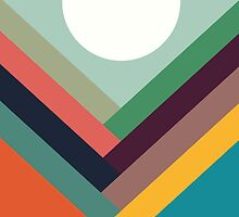 Geometric Rows of Valleys by Budi Satria Kwan