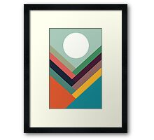 Geometric Rows of Valleys Framed Print