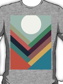 Geometric Rows of Valleys T-Shirt