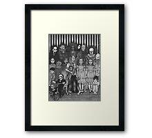 horror villains Framed Print
