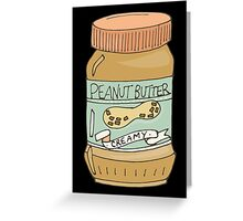 Jar Of Peanut Butter Greeting Card