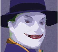 Joker ( Tim Burton's ) - Minimalist Print  by Bettci