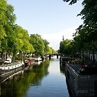 House Boats on Amsterdam Canal by ValeriesGallery