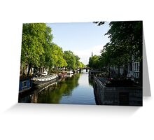 House Boats on Amsterdam Canal Greeting Card