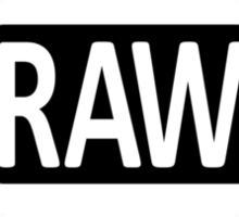RAW To The Core! Sticker