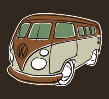 VW Type 2 bus brown by car2oonz