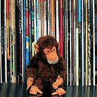 Vintage Monkey and Vinyl Records by Iheartrecords