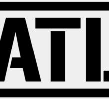 Atlanta airport destination stamp Sticker