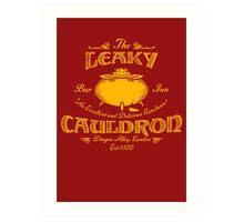 The Leaky Cauldron Bar & Inn Art Print