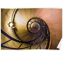 Spiral Staircase in the Arc de Triomphe Poster
