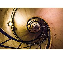 Spiral Staircase in the Arc de Triomphe Photographic Print
