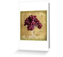 Grungy Grapes And Crystal  Greeting Card