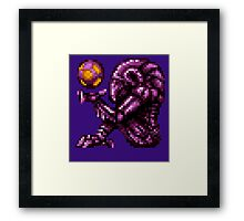 Super Metroid Pink Chozo Framed Print