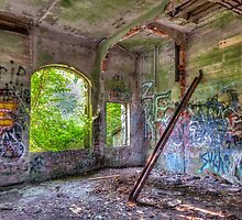 Brenton Point Stables Abandoned 2 by Joshua McDonough
