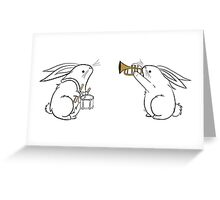 Toot and Diddle Bunnies Greeting Card