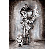 Miss Terri Riddles - Big eyed gothic investigateur extraordinaire!  Photographic Print