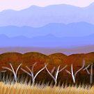 IPad Art- Distant Hills by Georgie Sharp