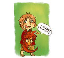 Hobbit: I Am Fire! I Am Death! Photographic Print