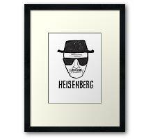 HEISENBERG - BREAKING BAD - WALTER WHITE  Framed Print