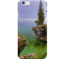Misty Morning at Cave Point, Wisconsin iPhone Case/Skin