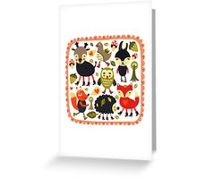 Woodland animals and birds Greeting Card