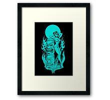 Tiki blue moon Framed Print