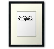 snoozy snoopy Framed Print