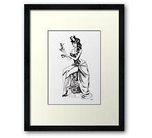 Burlesque circus Framed Print