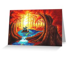 SWING INTO THE LIGHT OF LIFE Greeting Card