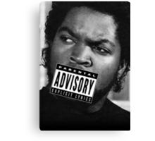 Ice Cube - Parental Advisory Canvas Print