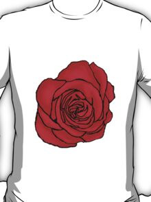 Open Red Rose T-Shirt