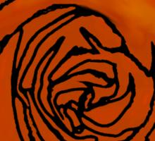Open Orange Rose Sticker