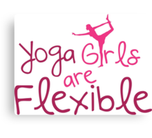 Yoga girls are flexible Canvas Print