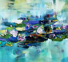 Lily Pond - morning - close up 1 by Terri Maddock