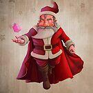 Santa Claus Super Hero by jordygraph