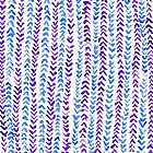 Hand Painted Herringbone Pattern in Purple & Blue by Tangerine-Tane