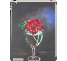 Red Rose in Glass iPad Case/Skin