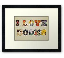 I Love Books Framed Print