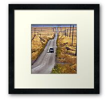 A Country Road in the Foothills Near Coalinga Oil Country Framed Print
