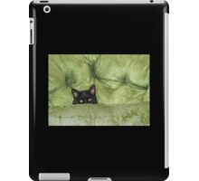 Green-Eyed Girl On Papason Chair iPad Case/Skin