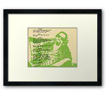 his dudeness Framed Print