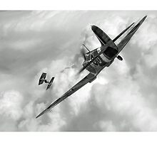 Spitfire VS Tie Fighter by Luckyman