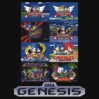 Sonic Genesis Title Screens by James Hall