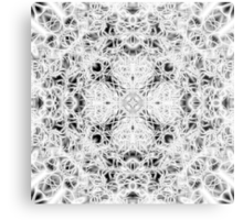 """""""Spirit of India: Fleur and Cross"""" in white, grey and black Metal Print"""