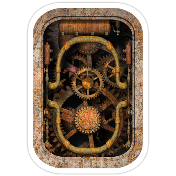 Infernal Steampunk Machine #1 T-shirt / Stickers by Steve Crompton