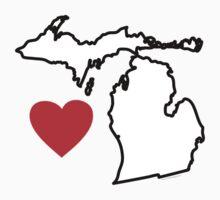 I Love Michigan by Carolina Swagger