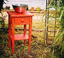 Little Red Table by Vintagee