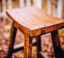 Wooden Stool by Vintagee